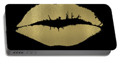 Gold Lips Kiss Portable Battery Charger