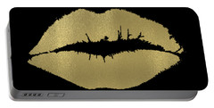 Gold Lips Kiss Portable Battery Charger by P S