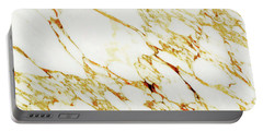 Gold Marble Portable Battery Charger