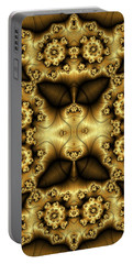 Gold N Brown Phone Case Portable Battery Charger by Lea Wiggins
