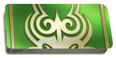 Gold On Green 2 - Chuck Staley Portable Battery Charger by Chuck Staley