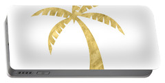 Gold Palm Tree- Art By Linda Woods Portable Battery Charger