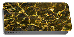 Liquid Gold  Portable Battery Charger by Janice Westerberg