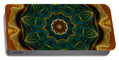 Gold Rose Mandala Portable Battery Charger