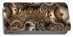 Portable Battery Charger featuring the digital art Gold Rush by Robert Orinski