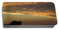 Gold Sky Over Lake Of The Ozarks Portable Battery Charger
