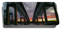 Gold Star Bridge Sunset 2016 Portable Battery Charger