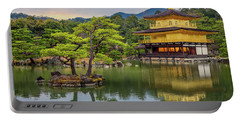 Portable Battery Charger featuring the photograph Gold Temple,  by Rikk Flohr