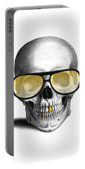 Skull With Gold Teeth And Sunglasses Portable Battery Charger
