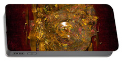 Portable Battery Charger featuring the digital art Golden Abstract by Alexa Szlavics
