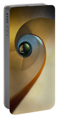 Golden And Brown Spiral Staircase Portable Battery Charger