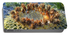 Portable Battery Charger featuring the photograph Golden Barrel Cactus by Glenn McCarthy Art and Photography