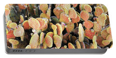 Portable Battery Charger featuring the photograph Golden Beaver Tail Catcus by Linda Phelps