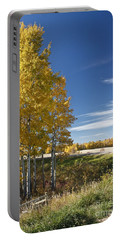Golden Poplar Portable Battery Charger by Linda Bianic