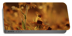 Golden Black Eyed Susan Portable Battery Charger by Jimmy Ostgard