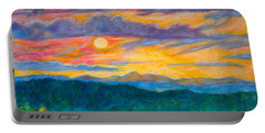 Golden Blue Ridge Sunset Portable Battery Charger by Kendall Kessler