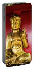 Golden Buddha With The Pearl Of Wisdom Portable Battery Charger