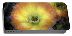 Golden Cactus Bloom Portable Battery Charger