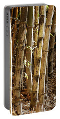Portable Battery Charger featuring the photograph Golden Canes by Linda Lees