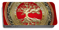 Golden Celtic Tree Of Life  Portable Battery Charger
