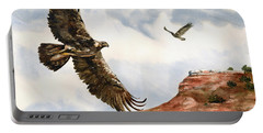 Golden Eagles In Fligh Portable Battery Charger
