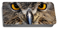 Golden Eyes - Great Horned Owl Portable Battery Charger