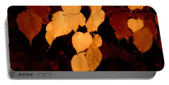 Golden Fall Leaves Portable Battery Charger