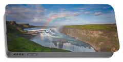 Golden Falls, Gullfoss Iceland Portable Battery Charger