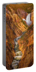 Golden Falls Of Yellowstone Portable Battery Charger