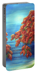 Golden Flame Tree Portable Battery Charger