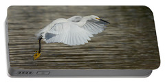 Portable Battery Charger featuring the photograph Golden Flight by Fraida Gutovich