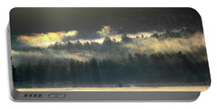 Portable Battery Charger featuring the photograph Golden Fog by Shane Bechler