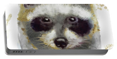 Golden Forest Raccoon  Portable Battery Charger