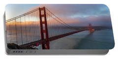 Golden Gate At Sunrise Portable Battery Charger