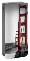 Golden Gate Black And Red Portable Battery Charger