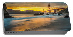 Golden Gate Bridge After Sunset Portable Battery Charger
