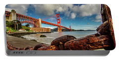 Portable Battery Charger featuring the photograph Golden Gate Bridge And Ft Point by Bill Gallagher