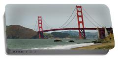 Golden Gate Bridge From Baker Beach Portable Battery Charger