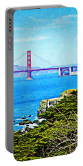 Golden Gate Bridge From The Coastal Trail Portable Battery Charger