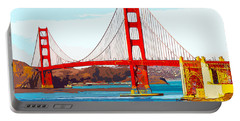 Golden Gate Bridge San Francisco The City By The Bay Portable Battery Charger