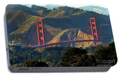 Portable Battery Charger featuring the photograph Golden Gate Bridge by Steven Spak