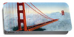 Golden Gate Bridge Sunset Portable Battery Charger by Mike Robles