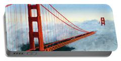 Golden Gate Bridge Sunset Portable Battery Charger
