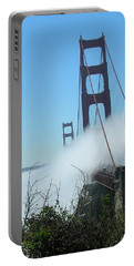 Golden Gate Bridge Towers In The Fog Portable Battery Charger