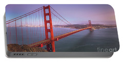 Golden Gate Bridge Twilight Portable Battery Charger by JR Photography