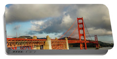 Portable Battery Charger featuring the photograph Golden Gate From Above Ft. Point by Bill Gallagher