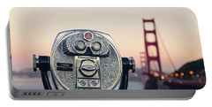 Golden Gate Sunset - San Francisco California Photography Portable Battery Charger