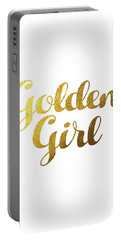Golden Girl Typography Portable Battery Charger