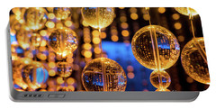 Golden Glass Bubbles Portable Battery Charger