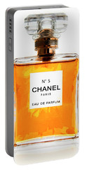 Golden Glow Of Chanel No. 5 Portable Battery Charger by Daniel Hagerman